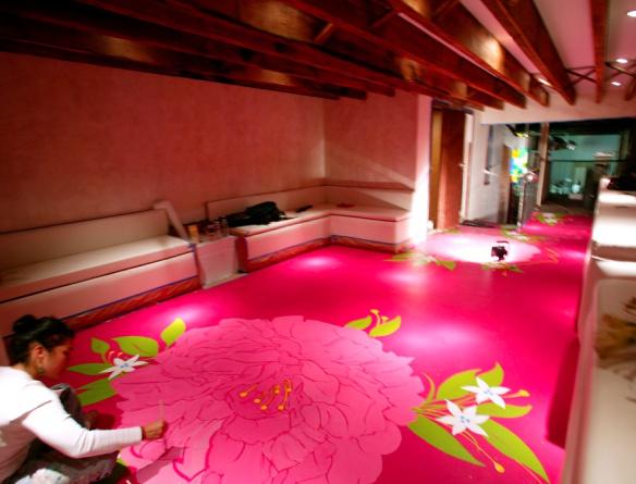 painted-floor-floral